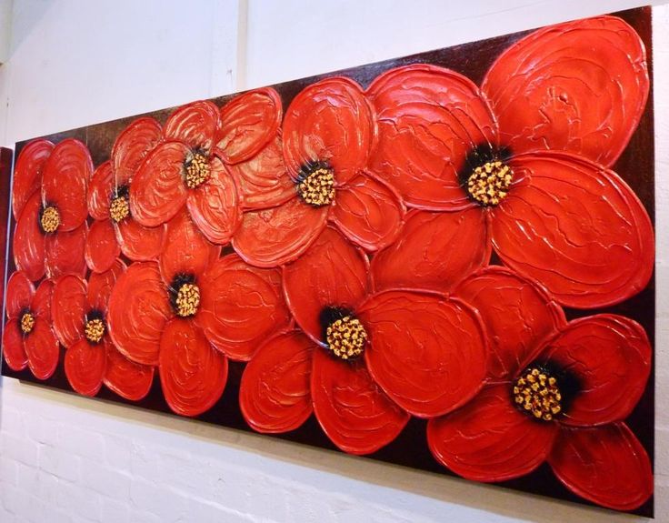 Abstract Artwork with Flowers for Interior Design