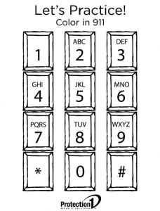 emergency phone list coloring pages - photo#27