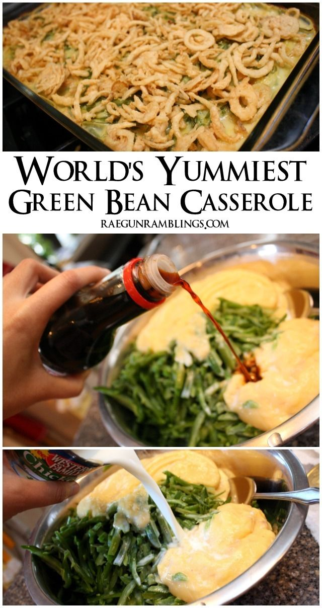 This is hands down my favorite green bean casserole recipe. So easy and soo yummy - Rae Gun Ramblings