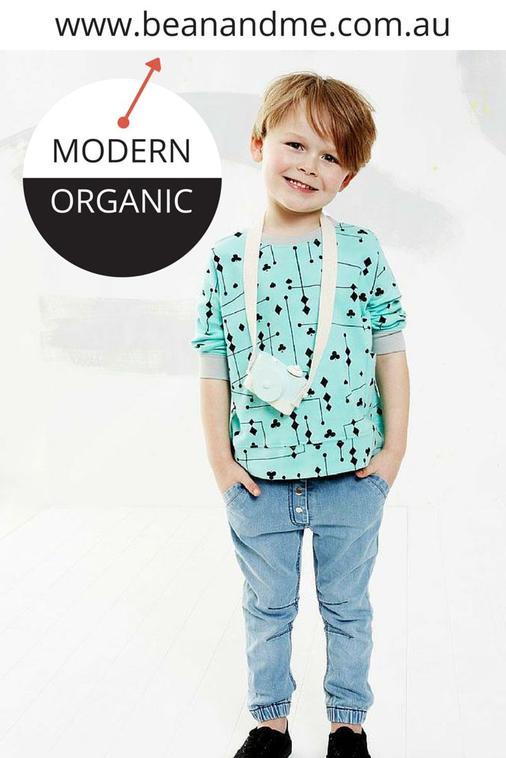 New season baby and toddler (up to size 3) organic cotton clothes online now. We love this Jade mobile tee and jeans by Baobab  #shopbeanandme #beanandme #organictoddler #organicbabyclothes #toddlerstyle #toddlerfashion #organic #baobab