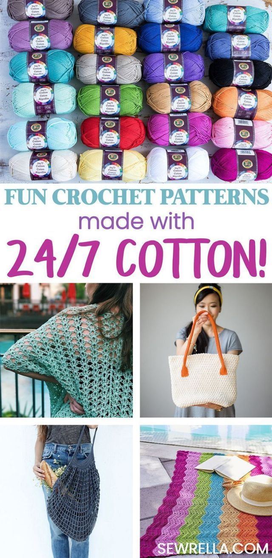 10 Lion Brand 24 7 Cotton Crochet Patterns Brand Cotton Crochet Lion Patterns Cotton Crochet Patterns Cotton Yarn Patterns Crochet With Cotton Yarn