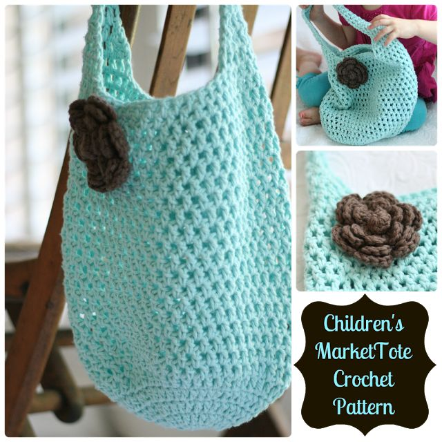 Free crochet pattern for Market Tote Bag- a fun beach bag or gift idea too!