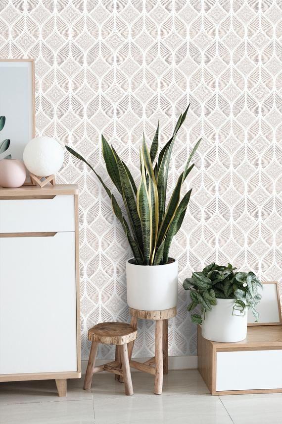 Removable Wallpaper Art Deco Neutral Beige Self Adhesive Minimalist Wallpaper Peel And Stick Mode In 2021 Wallpaper Living Room Minimalist Wallpaper Art Deco Wallpaper