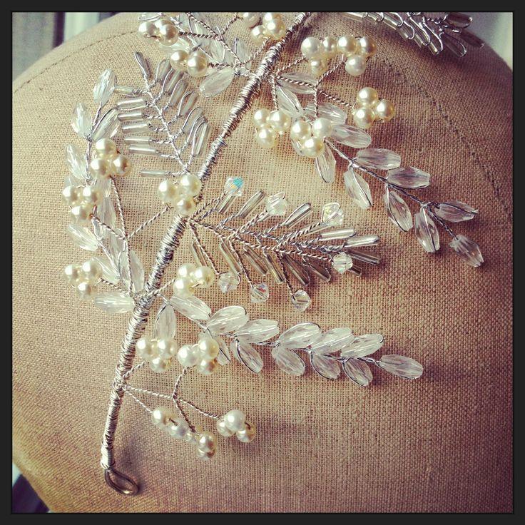 Detail, laurel leaf tiara by Samantha Walden