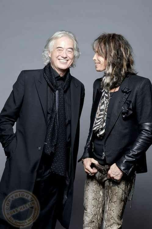 Jimmy Page and Steven Tyler by Ross Halfin Photography.