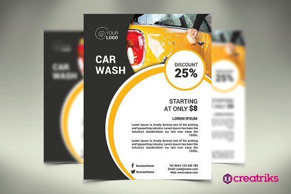 Car Wash Flyer by Creatricks on @Graphicsauthor
