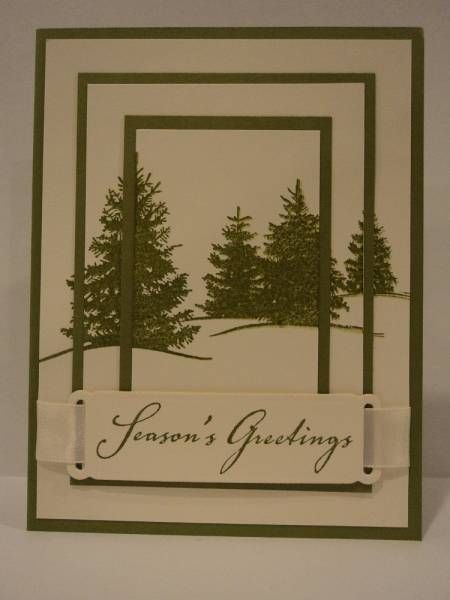 Triple Time Stamped Christmas Card by candee porter - Cards and Paper Crafts at Splitcoaststampers
