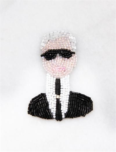 Marianne Batlle Large Brooches-Karl Lagerfeld