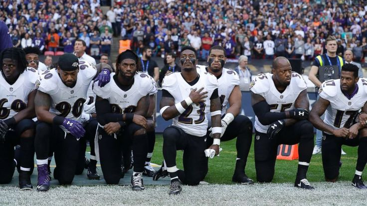 NFL players, teams and owners across the league responded Sunday to President Trump's criticism of players kneeling in protest during the national anthem, with some kneeling, others locking arms and still others choosing not to participate in the national anthem ceremony at all. As the...