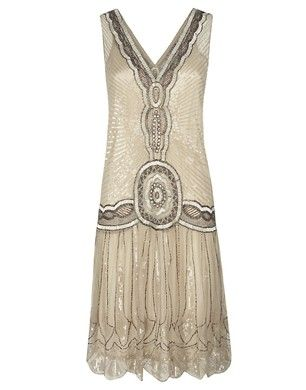 Jigsaw Sequin Flapper Dress - reminds me of Great Gatsby. Halloween or nice event. I would wear this :)