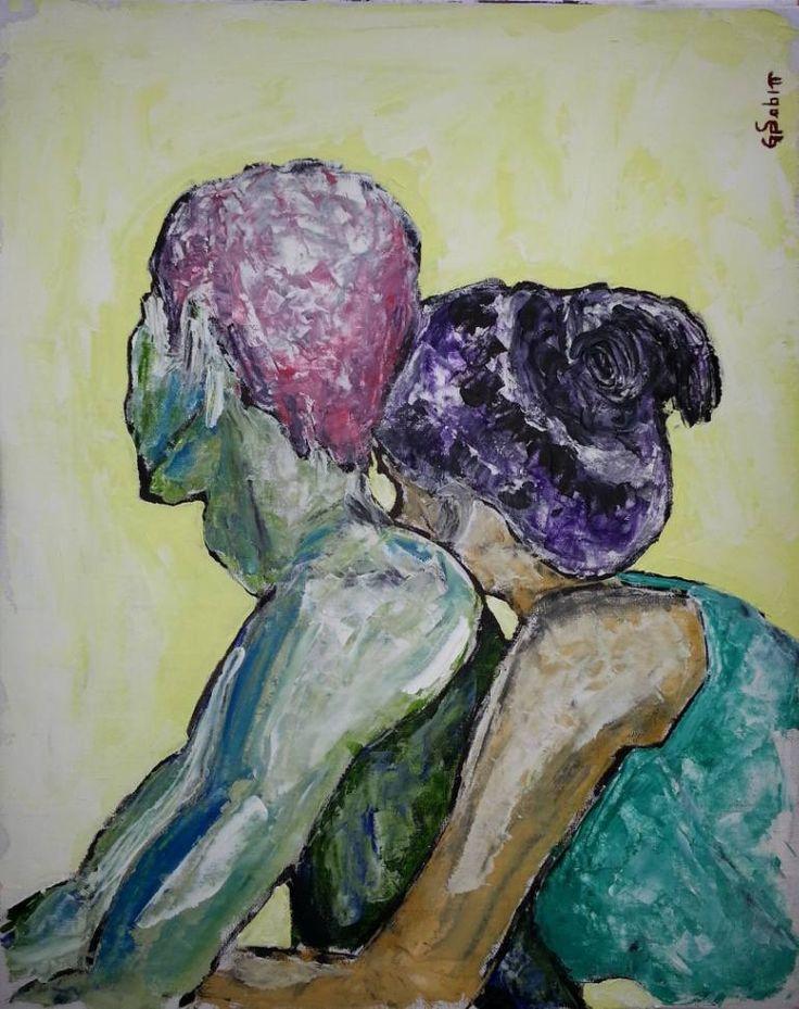 "Saatchi Art Artist George Sabin; Painting, ""Together"" #art"