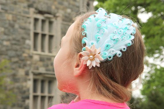Water Lily hair clip luau hair piece dance hair piece by Hairfetti