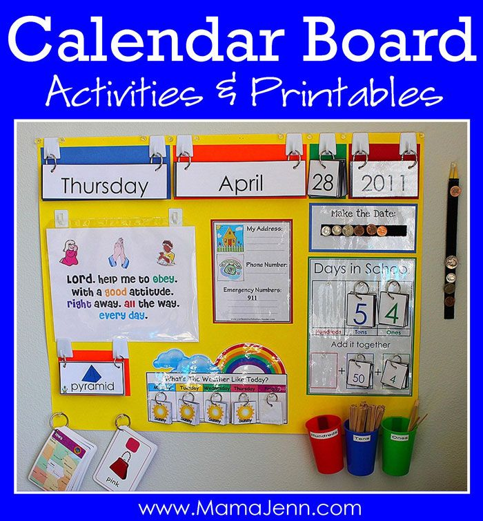 Our NEW Calendar Board | Preschool calendar, Classroom ...