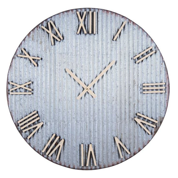 Home and Garden XL Farmers Corrugated Wall Clock