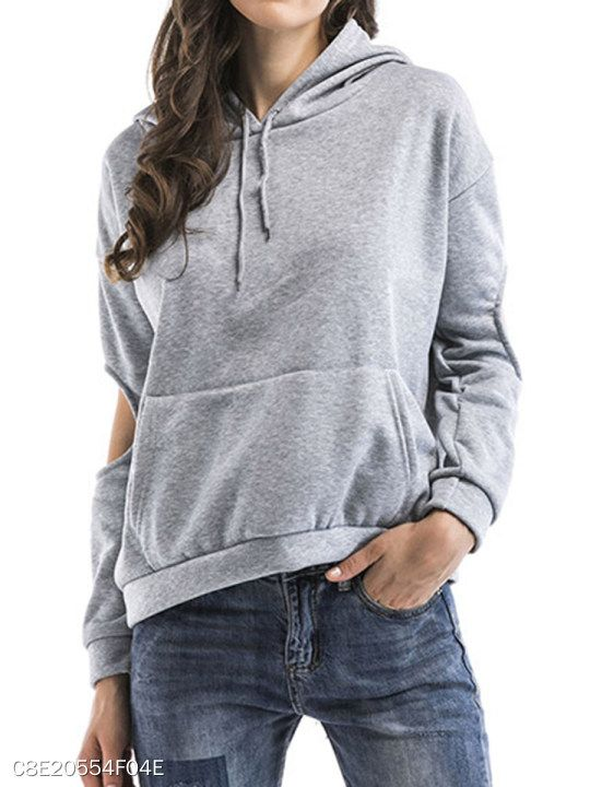 c75ab562b8 Hooded Plain Hoodie in 2019 | FASHION TRENDS | Plain hoodies ...
