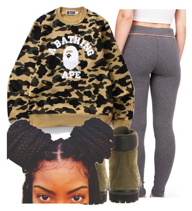 """Bape Contest"" by copperperro ❤ liked on Polyvore featuring Timberland, contest, bape, 2017 and litty"