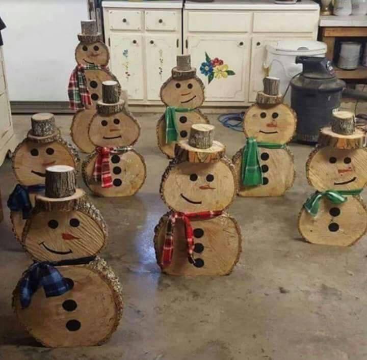 Dekoration Holz Schneemänner von MortonsWoodworking auf Etsy