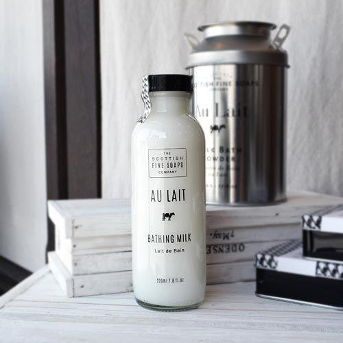 【イギリス製/ボディケア】SCOTTISH FINE SOAPS Au Lait(スコティッシュファインソープ・オレ) ミルクシリーズ ミルクボディウォッシュ220ml