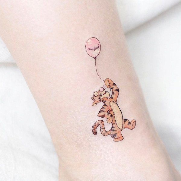 Winnie the pooh Tigger Temporary Tattoo Sticker, Women's Fashion,  Accessories, Others on Carousell