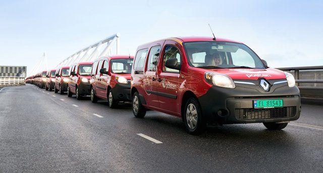 Il servizio postale norvegese incrementa la propria flotta di veicoli elettrici con 240 Renault Kangoo Z.E.