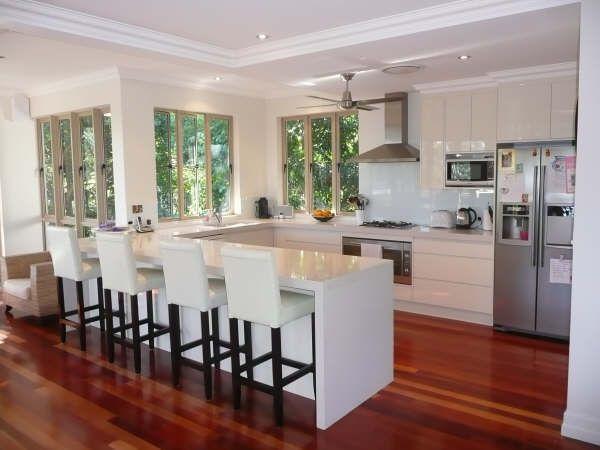 u shaped kitchen designs - Google Search