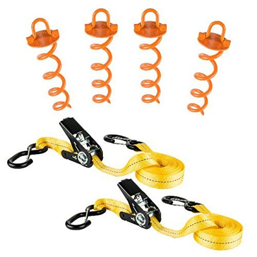 Keeper 05400 Severe Weather Kit Includes 4 Anchors 2 Tie Downs 4 Pack Severe Weather Severe