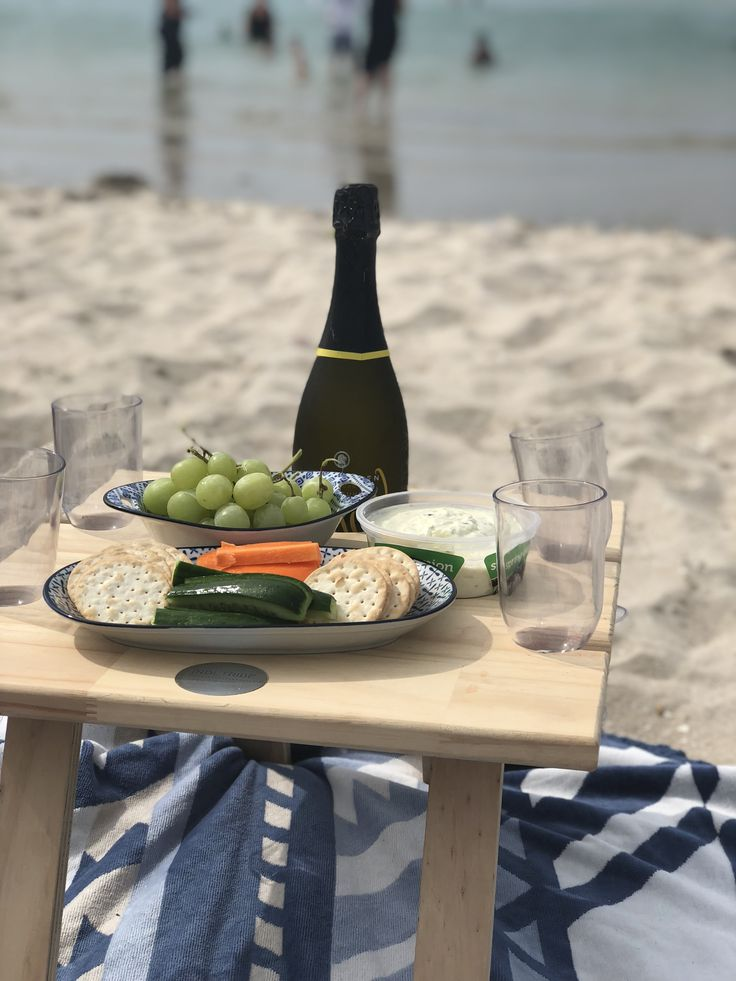 Picnic in style with Indi Tribe Collective's Folding Wine Table. Perfect for the beach!!