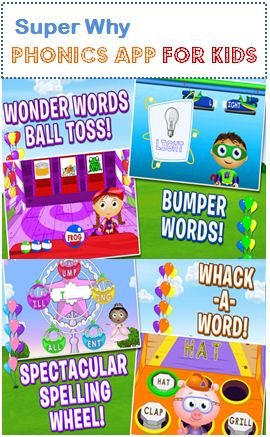 Super Why Phonics App for Kids - Early Literacy App from PBS Kids #kidsapps