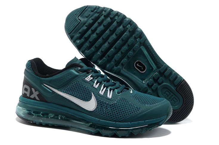 Atomic Teal Black White Nike Air Max 2013 Men\u0027s Running Shoes #Womens  #Fashion for