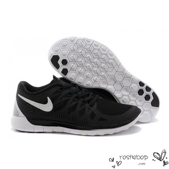 Nike Free 5.0 Running Shoes Unisex Black White