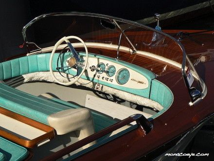 Riva boat...elegant, retro style. What a thrill it must be to ride one.