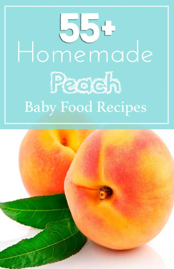 how to make peach baby food from frozen peaches