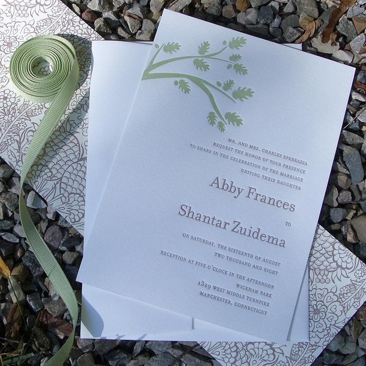 how to return address wedding envelopes%0A Items similar to Letterpressed Wedding Invitations  Branch on Etsy