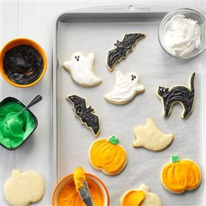 halloween party cutout cookies halloween party cutout cookies recipe recipes - Easy Halloween Cookie Ideas