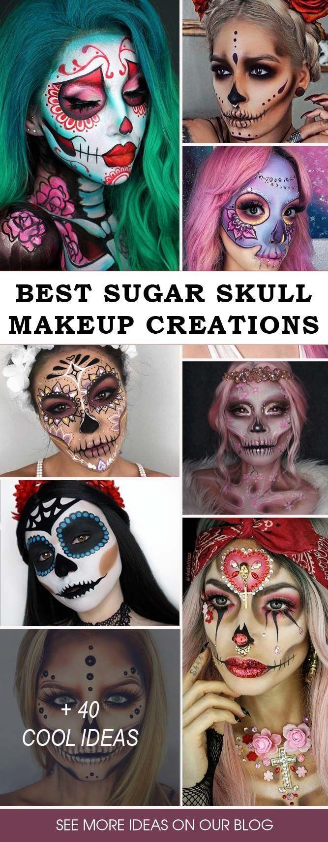 Sugar Skull Makeup Creations Ein echter Halloween-Look, der auf keinen kreativen …   – makeup brushes