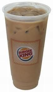 Burger King Copycat Recipes: Iced Mocha Coffee - ICED MOCHA  Burger King Copycat Recipe   Serves 3   2 cups coffee  2 cups half and half  1 cup chocolate syrup  ice, as needed   In a pitcher mix together the coffee, half-and-half, and the chocolate syrup. Chill in the fridge if you have time. Serve with ice.