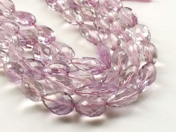 Pink Amethyst Beads Pink Amethyst Faceted by gemsforjewels on Etsy