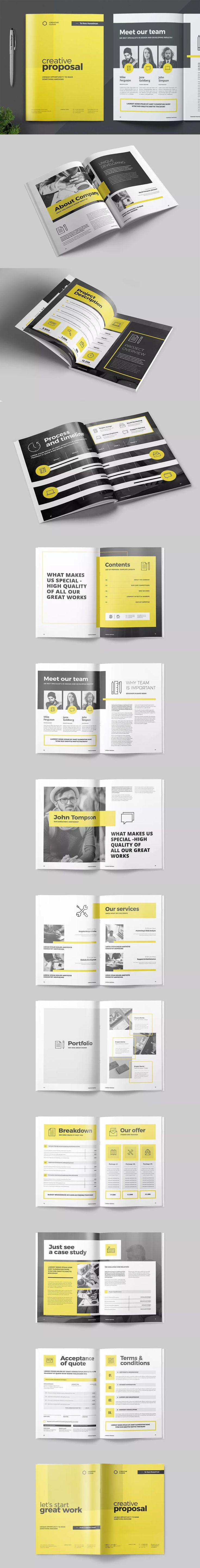 Proposal Template InDesign INDD A4 and