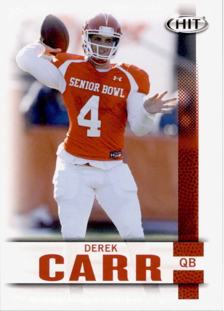 Derek Carr 2014 Sage Hit #106 Oakland Raiders Fresno State Bulldogs
