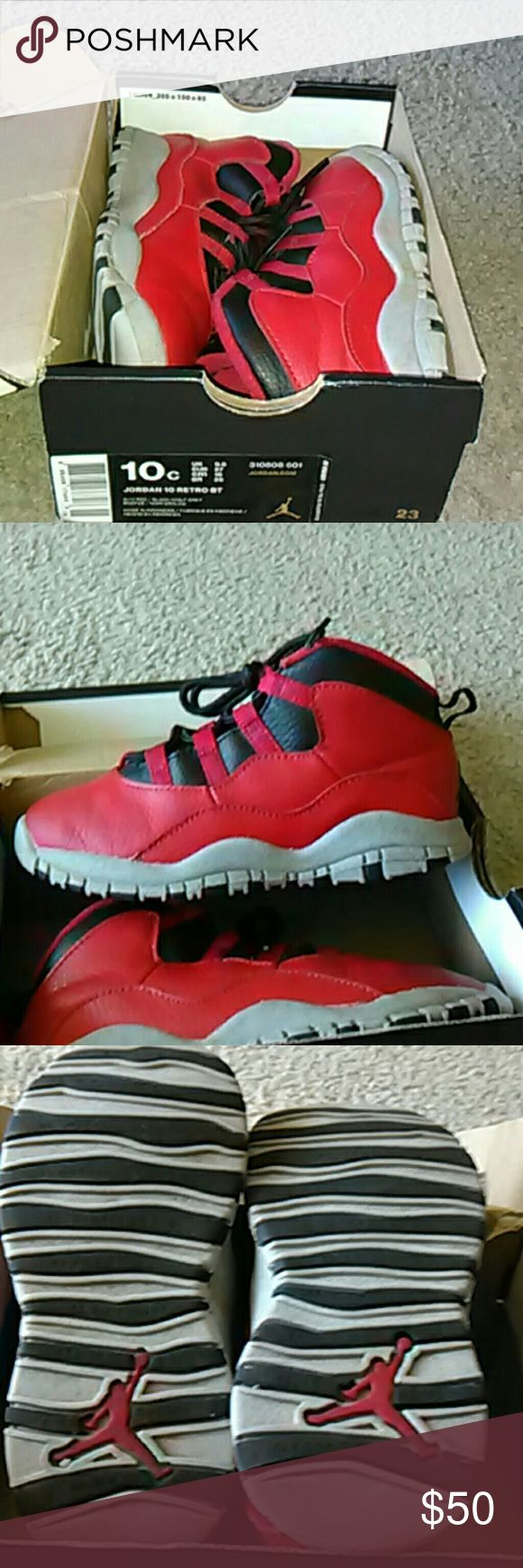 Jordan retro b.o.b 10s Bull's on Broadway 10s looking for some lucky little guy comes with og box and all Jordan Shoes Sneakers