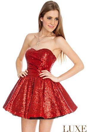 Netted Sequin Prom Dress glitter red Merry Christmas  Buy here: http://en-gb.savelgo.com/luxurydresses/photos/uncategorized/shortdresses#!/shortdresses/products/golddressreddress/nettedsequinpromdress