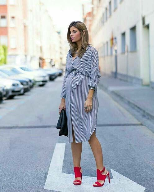f4ddb1e768070 21 Stylish Maternity Outfits for Spring and Summer | StayGlam ...