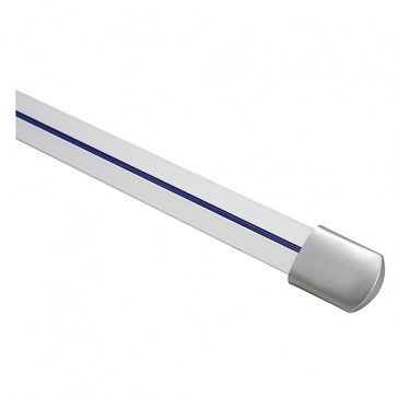 LINUX LIGHT Schiene, 1m, inkl. 2 Endkappen, silbergrau / LED24-LED Shop