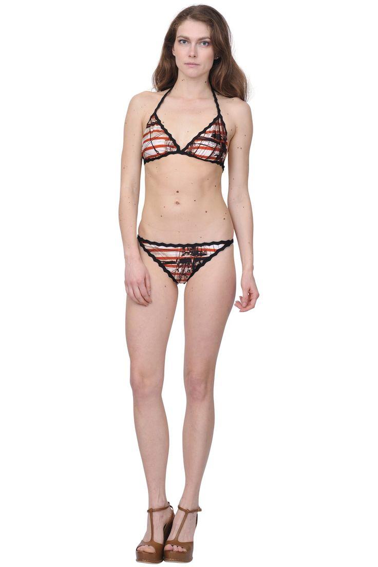 Jean Paul Gaultier soleil- Marines print bikini www.suite123.it