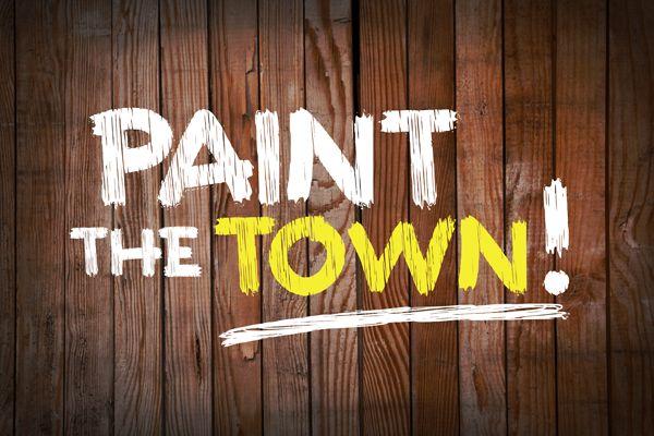 Paint the town Font   dafont.com