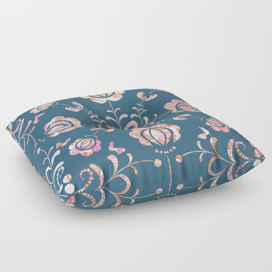Fall's flowers Floor Pillow