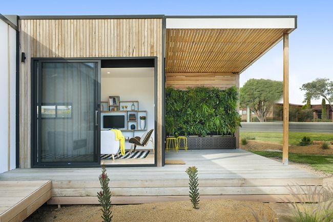 Sustainable prefab bushland retreat | Designhunter - architecture & design blog