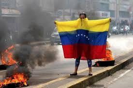 Resultado de imagen para protestas en venezuela 2014 bandera