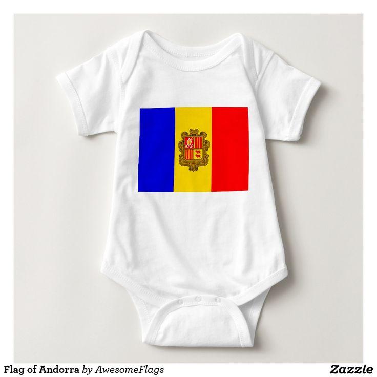 Flag of Andorra Baby Bodysuit