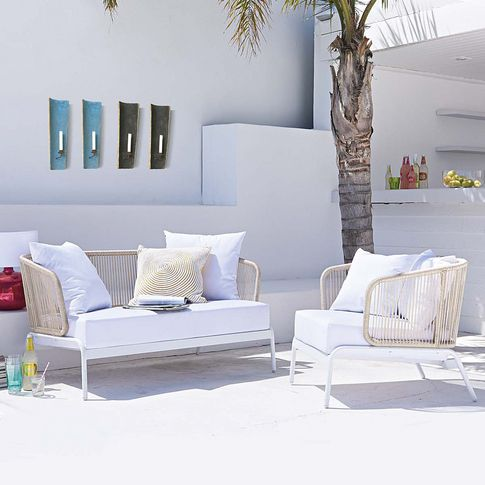Outdoorsofa bei impressionen terrasse pinterest for Sessel impressionen